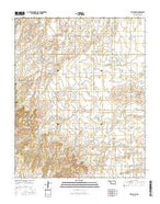 Hitchcock Oklahoma Current topographic map, 1:24000 scale, 7.5 X 7.5 Minute, Year 2016 from Oklahoma Map Store