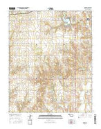 Hocker Oklahoma Current topographic map, 1:24000 scale, 7.5 X 7.5 Minute, Year 2016 from Oklahoma Map Store