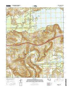 Hoffman Oklahoma Current topographic map, 1:24000 scale, 7.5 X 7.5 Minute, Year 2016