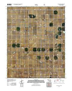 Hough NW Oklahoma Historical topographic map, 1:24000 scale, 7.5 X 7.5 Minute, Year 2010