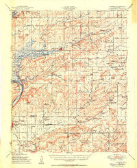 Hulbert Oklahoma Historical topographic map, 1:62500 scale, 15 X 15 Minute, Year 1950