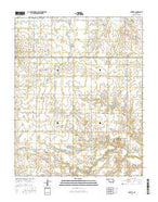 Hunter Oklahoma Current topographic map, 1:24000 scale, 7.5 X 7.5 Minute, Year 2016 from Oklahoma Map Store