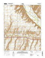 Hydro Oklahoma Current topographic map, 1:24000 scale, 7.5 X 7.5 Minute, Year 2016 from Oklahoma Map Store