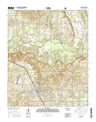 Idabel Oklahoma Current topographic map, 1:24000 scale, 7.5 X 7.5 Minute, Year 2016