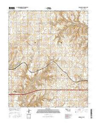 Indianapolis Oklahoma Current topographic map, 1:24000 scale, 7.5 X 7.5 Minute, Year 2016