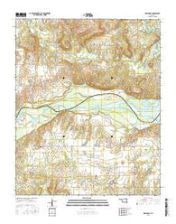 Indianola Oklahoma Current topographic map, 1:24000 scale, 7.5 X 7.5 Minute, Year 2016