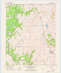 Inola Oklahoma Historical topographic map, 1:24000 scale, 7.5 X 7.5 Minute, Year 1963