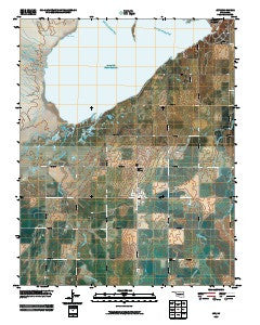 Jet Oklahoma Historical topographic map, 1:24000 scale, 7.5 X 7.5 Minute, Year 2009