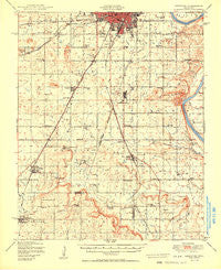 Keefeton Oklahoma Historical topographic map, 1:62500 scale, 15 X 15 Minute, Year 1950
