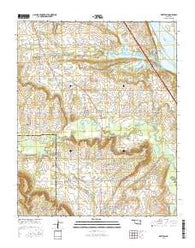Keefton Oklahoma Current topographic map, 1:24000 scale, 7.5 X 7.5 Minute, Year 2016