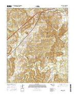Kellyville Oklahoma Current topographic map, 1:24000 scale, 7.5 X 7.5 Minute, Year 2016 from Oklahoma Map Store