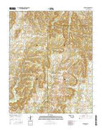 Kiefer SW Oklahoma Current topographic map, 1:24000 scale, 7.5 X 7.5 Minute, Year 2016 from Oklahoma Map Store