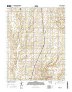 Kildare Oklahoma Current topographic map, 1:24000 scale, 7.5 X 7.5 Minute, Year 2016 from Oklahoma Map Store