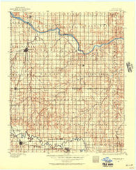 Kingfisher Oklahoma Historical topographic map, 1:125000 scale, 30 X 30 Minute, Year 1892