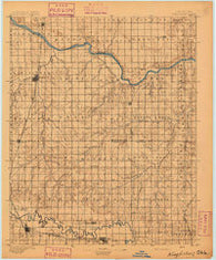 Kingfisher Oklahoma Historical topographic map, 1:125000 scale, 30 X 30 Minute, Year 1895
