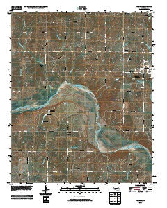 Konawa Oklahoma Historical topographic map, 1:24000 scale, 7.5 X 7.5 Minute, Year 2009