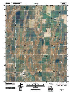Lahoma Oklahoma Historical topographic map, 1:24000 scale, 7.5 X 7.5 Minute, Year 2009