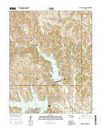 Lake Carl Blackwell Oklahoma Current topographic map, 1:24000 scale, 7.5 X 7.5 Minute, Year 2016 from Oklahoma Map Store