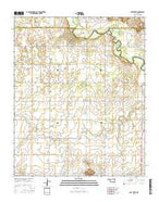 Lake Creek Oklahoma Current topographic map, 1:24000 scale, 7.5 X 7.5 Minute, Year 2016 from Oklahoma Map Store