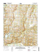 Lake Holdenville Oklahoma Current topographic map, 1:24000 scale, 7.5 X 7.5 Minute, Year 2016 from Oklahoma Map Store