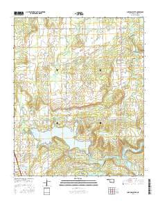 Lake McAlester Oklahoma Current topographic map, 1:24000 scale, 7.5 X 7.5 Minute, Year 2016