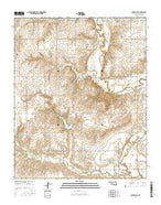 Lake Valley Oklahoma Current topographic map, 1:24000 scale, 7.5 X 7.5 Minute, Year 2016 from Oklahoma Map Store