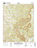 Lamar Oklahoma Current topographic map, 1:24000 scale, 7.5 X 7.5 Minute, Year 2016 from Oklahoma Map Store
