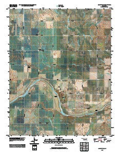 Lamont NW Oklahoma Historical topographic map, 1:24000 scale, 7.5 X 7.5 Minute, Year 2009