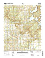 Lane Oklahoma Current topographic map, 1:24000 scale, 7.5 X 7.5 Minute, Year 2016 from Oklahoma Map Store