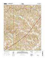 Laverty Oklahoma Current topographic map, 1:24000 scale, 7.5 X 7.5 Minute, Year 2016 from Oklahoma Map Store