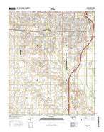 Lawton Oklahoma Current topographic map, 1:24000 scale, 7.5 X 7.5 Minute, Year 2016 from Oklahoma Map Store