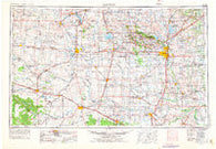 Lawton Oklahoma Historical topographic map, 1:250000 scale, 1 X 2 Degree, Year 1955