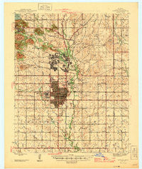 Lawton Oklahoma Historical topographic map, 1:62500 scale, 15 X 15 Minute, Year 1946