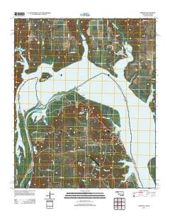 Lebanon Oklahoma Historical topographic map, 1:24000 scale, 7.5 X 7.5 Minute, Year 2012