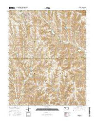Leedey Oklahoma Current topographic map, 1:24000 scale, 7.5 X 7.5 Minute, Year 2016