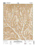 Leedey SW Oklahoma Current topographic map, 1:24000 scale, 7.5 X 7.5 Minute, Year 2016 from Oklahoma Map Store