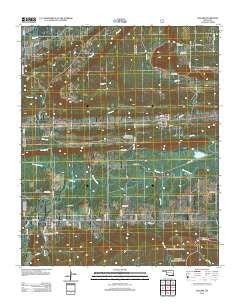 Leflore Oklahoma Historical topographic map, 1:24000 scale, 7.5 X 7.5 Minute, Year 2012