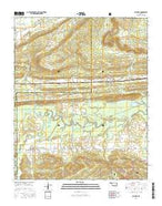 Leflore Oklahoma Current topographic map, 1:24000 scale, 7.5 X 7.5 Minute, Year 2016 from Oklahoma Map Store
