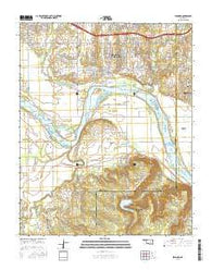 Leonard Oklahoma Current topographic map, 1:24000 scale, 7.5 X 7.5 Minute, Year 2016