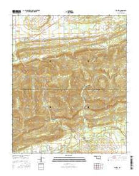 Lequire Oklahoma Current topographic map, 1:24000 scale, 7.5 X 7.5 Minute, Year 2016