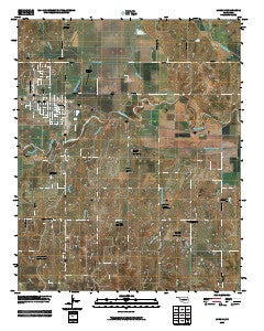 Lindsay Oklahoma Historical topographic map, 1:24000 scale, 7.5 X 7.5 Minute, Year 2009