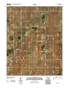 Logan Oklahoma Historical topographic map, 1:24000 scale, 7.5 X 7.5 Minute, Year 2010