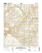 Lovell Oklahoma Current topographic map, 1:24000 scale, 7.5 X 7.5 Minute, Year 2016 from Oklahoma Map Store