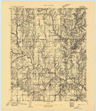 Lovell Oklahoma Historical topographic map, 1:62500 scale, 15 X 15 Minute, Year 1893
