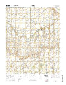 Loyal Oklahoma Current topographic map, 1:24000 scale, 7.5 X 7.5 Minute, Year 2016