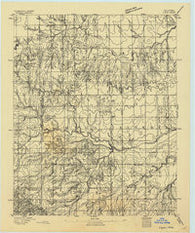Loyal Oklahoma Historical topographic map, 1:62500 scale, 15 X 15 Minute, Year 1893
