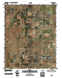 Lucien Oklahoma Historical topographic map, 1:24000 scale, 7.5 X 7.5 Minute, Year 2009