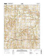 Lucien Oklahoma Current topographic map, 1:24000 scale, 7.5 X 7.5 Minute, Year 2016 from Oklahoma Map Store
