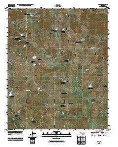 Lula Oklahoma Historical topographic map, 1:24000 scale, 7.5 X 7.5 Minute, Year 2009
