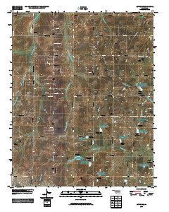 Luther SE Oklahoma Historical topographic map, 1:24000 scale, 7.5 X 7.5 Minute, Year 2009
